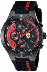 [フェラーリ]Ferrari  REDREV EVO Analog Display Japanese Quartz Black Watch 0830260 メンズ
