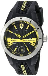 [フェラーリ]Ferrari  REDREV T Analog Display Japanese Quartz Black Watch 0830277 メンズ
