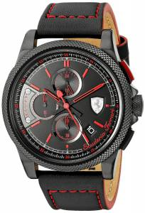 [フェラーリ]Ferrari  FORMULA ITALIA S Analog Display Japanese Quartz Black Watch 0830273