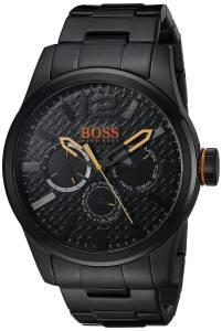 [ヒューゴボス]HUGO BOSS BOSS Orange PARIS Analog Display Japanese Quartz Black Watch 1513239