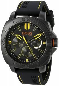 [ヒューゴボス]HUGO BOSS BOSS Orange SAO PAULO Black Stainless Steel Watch with Rubber 1513243