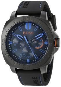 [ヒューゴボス]HUGO BOSS BOSS Orange SAO PAULO Black Stainless Steel Watch with Rubber 1513242