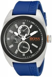 [ヒューゴボス]HUGO BOSS BOSS Orange LONDON Stainless Steel Watch with Blue Rubber Band 1513245