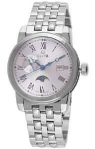 [ジェビル]Gevril 腕時計 CORTLAND Analog Display Swiss Quartz Silver Watch 2526 メンズ