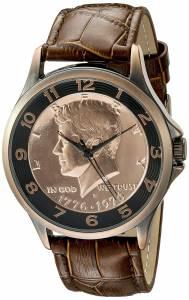 [オーガストシュタイナー]August Steiner Analog Display Japanese Quartz Brown Watch CN010C