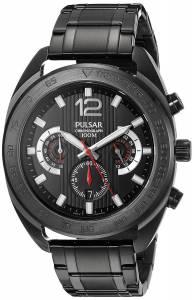 [パルサー]Pulsar  Chronograph Analog Display Japanese Quartz Black Watch PT3631 メンズ
