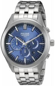 [パルサー]Pulsar  Chronograph Analog Display Japanese Quartz Silver Watch PT3679 メンズ