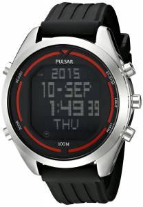 [パルサー]Pulsar 腕時計 Digital Digital Display Japanese Quartz Black Watch PQ2045 メンズ