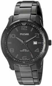 [パルサー]Pulsar 腕時計 Dress Analog Display Japanese Quartz Black Watch PS9335 メンズ