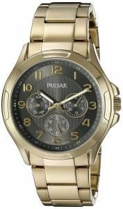[パルサー]Pulsar  Chronograph Analog Display Japanese Quartz Gold Watch PP6208 メンズ