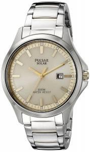 [パルサー]Pulsar  Solar Dress Analog Display Japanese Quartz Two Tone Watch PX3075 メンズ