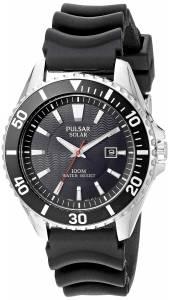 [パルサー]Pulsar  Solar Dress Analog Display Japanese Quartz Black Watch PX3037 メンズ