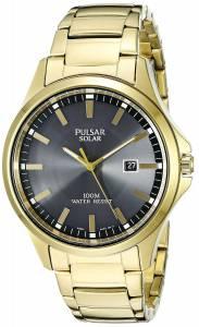 [パルサー]Pulsar  Solar Dress Analog Display Japanese Quartz Gold Watch PX3076 メンズ