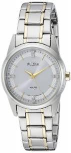 [パルサー]Pulsar  Solar Dress Analog Display Japanese Quartz Two Tone Watch PY5003