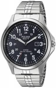[パルサー]Pulsar  Solar Expansion Analog Display Japanese Quartz Silver Watch PX3069 メンズ