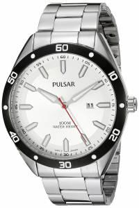 [パルサー]Pulsar  Every Day Value Analog Display Japanese Quartz Silver Watch PH9093X メンズ