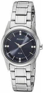 [パルサー]Pulsar  Solar Dress Analog Display Japanese Quartz Silver Watch PY5001