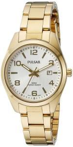[パルサー]Pulsar  Every Day Value Analog Display Japanese Quartz Gold Watch PJ2018X