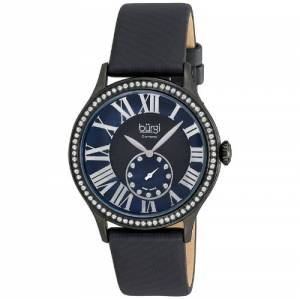 [バージ]Burgi  Dial Swiss Quartz Diamond Strap Watch Black BUR056BK_Black-Standard