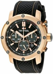 [ティーダブルスティール]TW Steel  Rose Gold PVD Watch with Black Silicone Band TS5