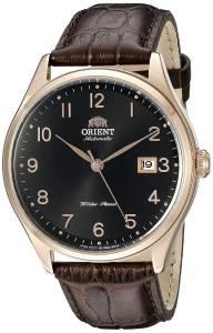 [オリエント]Orient 腕時計 Duke Black Watch with Brown Leather Band FER2J001B0 メンズ