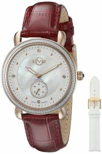 [ジェビル]GV2 by Gevril  Marsala Analog Display Swiss Quartz Red Watch 9835 レディース