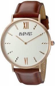 [オーガストシュタイナー]August Steiner  Rose GoldTone Watch with Brown Strap AS8166RGBR