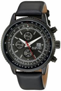 [オーガストシュタイナー]August Steiner Round Black Dial Three Hand Quartz Black AS8189BK