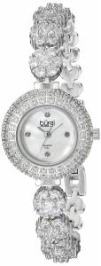 [バージ]Burgi  SilverTone Crystal Bracelet Watch with Diamond Accents BUR139SS レディース