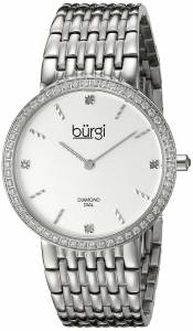 [バージ]Burgi  Round White Dial Two Hand Quartz Staniless Steel Bracelet Watch BUR138SS