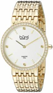 [バージ]Burgi  Round White Dial Two Hand Quartz Gold Tone Bracelet Watch BUR138YG
