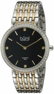 [バージ]Burgi  Round Black Dial Two Hand Quartz Staniless Steel Bracelet Watch BUR138TTG
