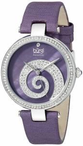 [バージ]Burgi Round Purple Mother of Pearl and Silver Dial with Swarovski Crystals BUR143PU