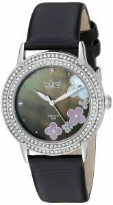 [バージ]Burgi  Round White Mother of Pearl Dial Three Hand Quartz Strap Watch BUR142SSB