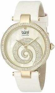 [バージ]Burgi Round Cream Mother of Pearl and Yellow Gold Dial with Swarovski Crystals BUR143IV