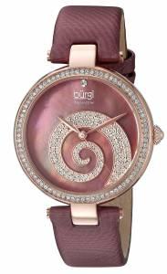 [バージ]Burgi Round Burgundy Mother of Pearl and Rose Gold Dial with Swarovski Crystals BUR143BUR