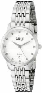 [バージ]Burgi BUR146 Round Silver Dial Three Hand Quartz Staniless Steel Bracelet Watch BUR146SS