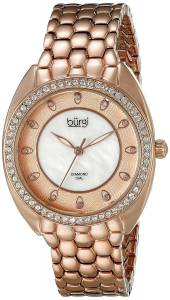 [バージ]Burgi Round White Mother of Pearl and Rose gold Dial Three Hand Quartz Bracelet BUR145RG