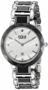 [バージ]Burgi  Round Blue Dial Two Hand Quartz Stainless Steel Bracelet Watch BUR147BK