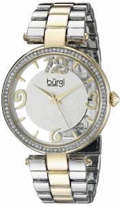 [バージ]Burgi  Round Silver and See Thru Dial Three Hand Quartz Bracelet Watch BUR148TTG
