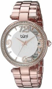 [バージ]Burgi  Round Rose Gold and See Thru Dial Three Hand Quartz Bracelet Watch BUR148RG