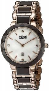 [バージ]Burgi  Round White Dial Two Hand Quartz Stainless Steel Bracelet Watch BUR147BR