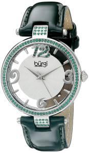 [バージ]Burgi  BUR150 Round Silver and See Thru Dial Three Hand Quartz Strap Watch BUR150GN