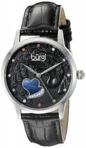 [バージ]Burgi  BUR149 Round Black Dial Three Hand Quartz Staniless Steel Strap Watch BUR149BK