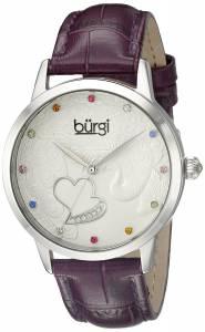 [バージ]Burgi  BUR149 Round Silver Dial Three Hand Quartz Staniless Steel Strap Watch BUR149PU