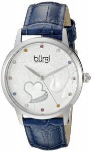 [バージ]Burgi  BUR149 Round Silver Dial Three Hand Quartz Stainless Steel Strap Watch BUR149BU