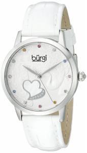 [バージ]Burgi  BUR149 Round Silver Dial Three Hand Quartz Staniless Steel Strap Watch BUR149WT