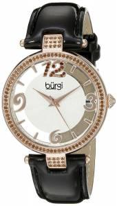 [バージ]Burgi  BUR150 Round Silver and See Thru Dial Three Hand Quartz Strap Watch BUR150BKR