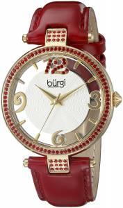 [バージ]Burgi BUR150 Round Silver and See Thru Dial Three Hand Quartz Gold Tone Strap BUR150RD