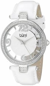 [バージ]Burgi  BUR150 Round Silver and See Thru Dial Three Hand Quartz Strap Watch BUR150WT